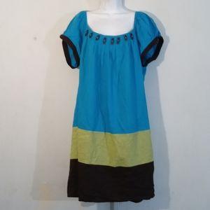 ROBBIE BEE BLOCK DRESS SIZE 20W